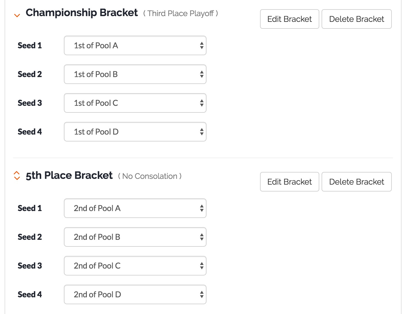 Custom Playoff Brackets